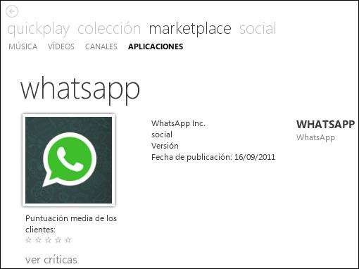 WhatsApp para Windows Phone aparece en el Marketplace