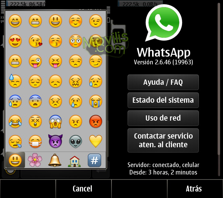 whatsapp nokia con emoticonos 2