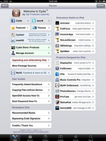 Jailbreak nuevo iPad