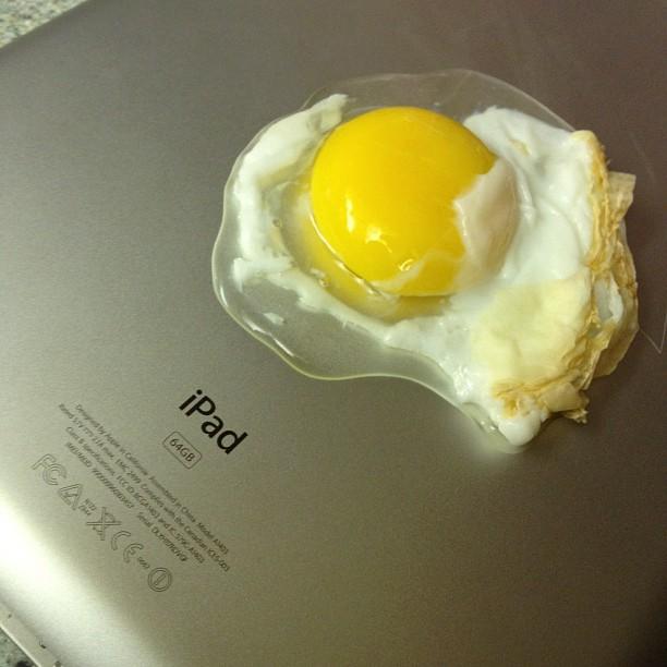 nuevo ipad huevo frito