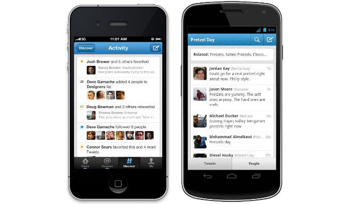 teléfonos móviles, celulares, móviles, Twitter, Android, Aplicaciones, iOS