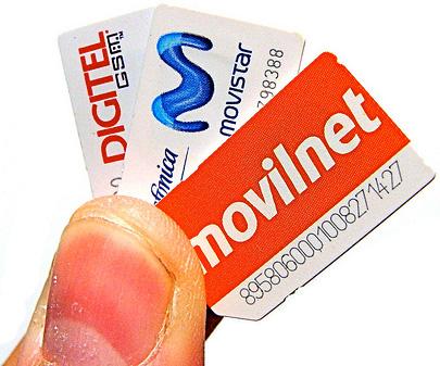 SM Cards movilnet movistar digitel