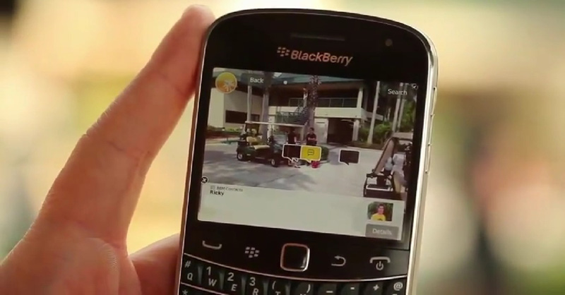 BlackBerry-in-hand