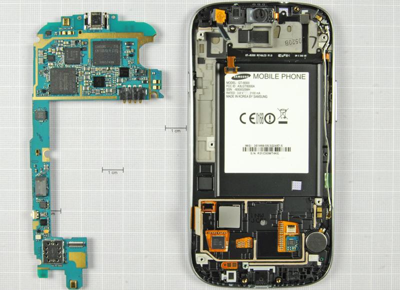 Samsung Galaxy S3 desensamblado cámara