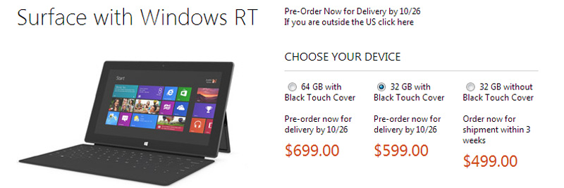 Microsoft-Surface-con-Windows-RT-precio