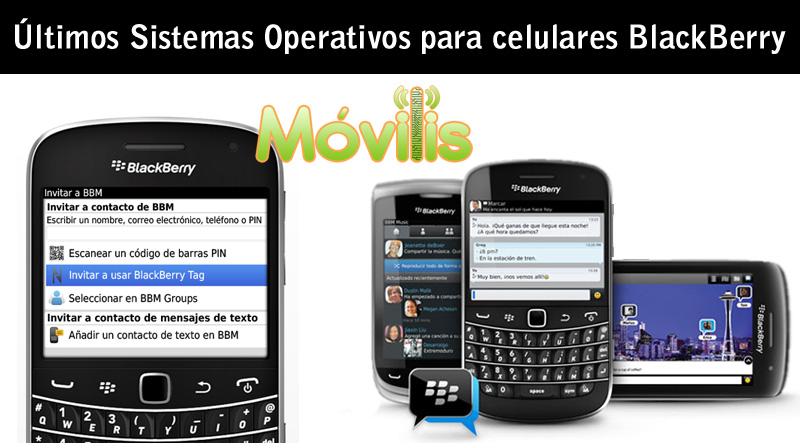 Últimos Sistemas Operativos para celulares smartphones teléfonos BlackBerry