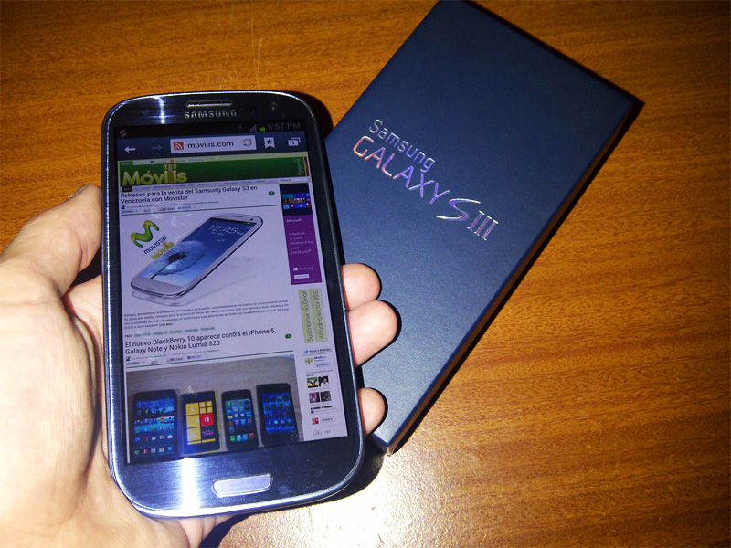 Android 4.1.2 Movistar Venezuela Galaxy S3 S III Samsung