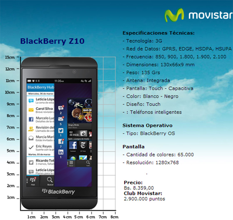 BlackBerry Z10 Movistar Venezuela