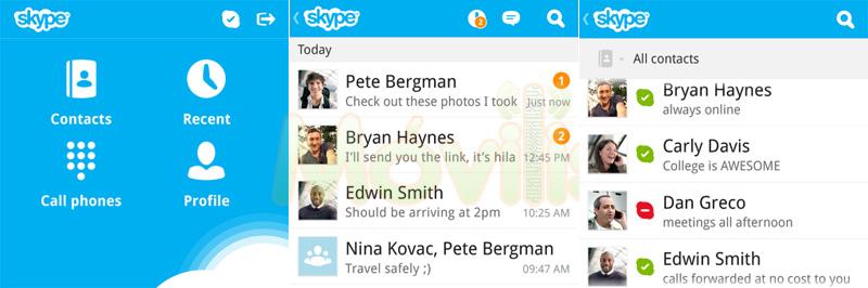 Skype para BlackBerry 10
