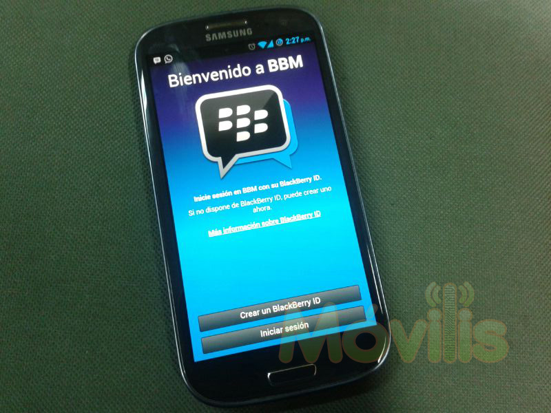 BBM Android Samsung Galaxy S3