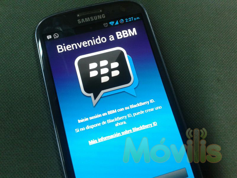BlackBerry Messenger BBM para Android Samsung Galaxy S3