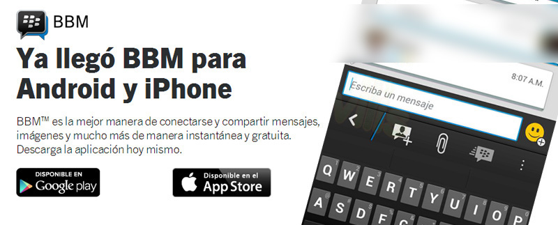 Dame tu PIN BlackBerry Android amigos compartir