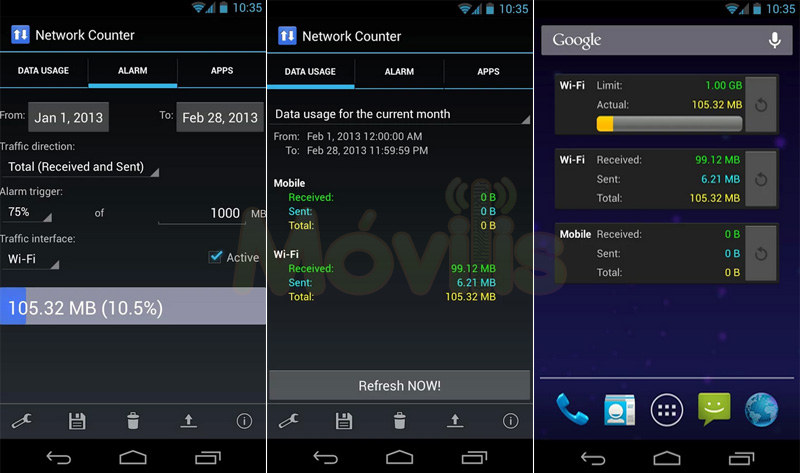 Network Counter para Android, controla tu plan de datos mensual