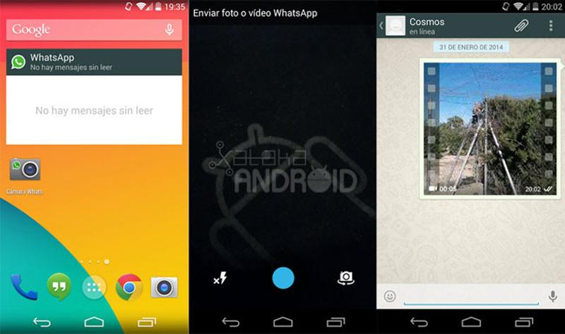 WhatsApp para Android con cosas nuevas, widget, acceso directo a la cámara y algo más