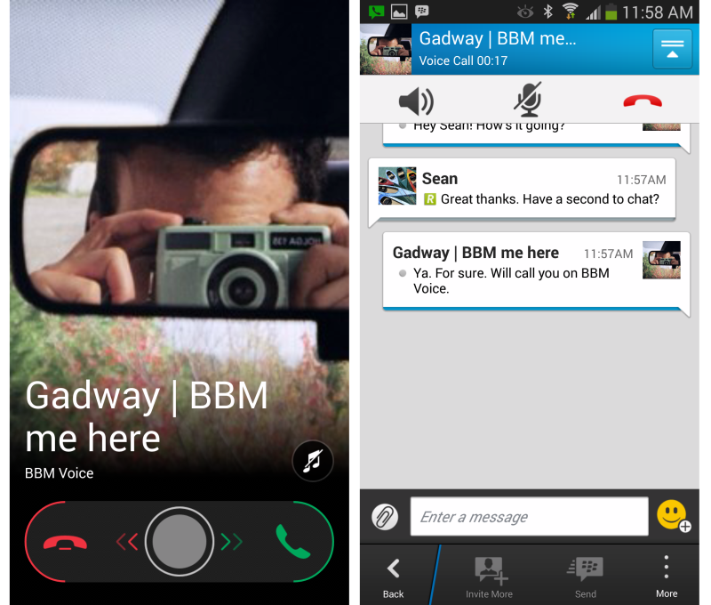 BBM Android captura chat