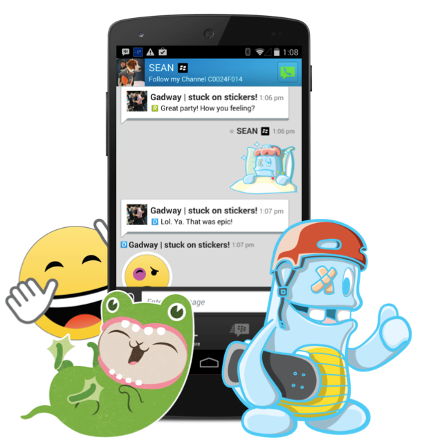 BBM Android stickers