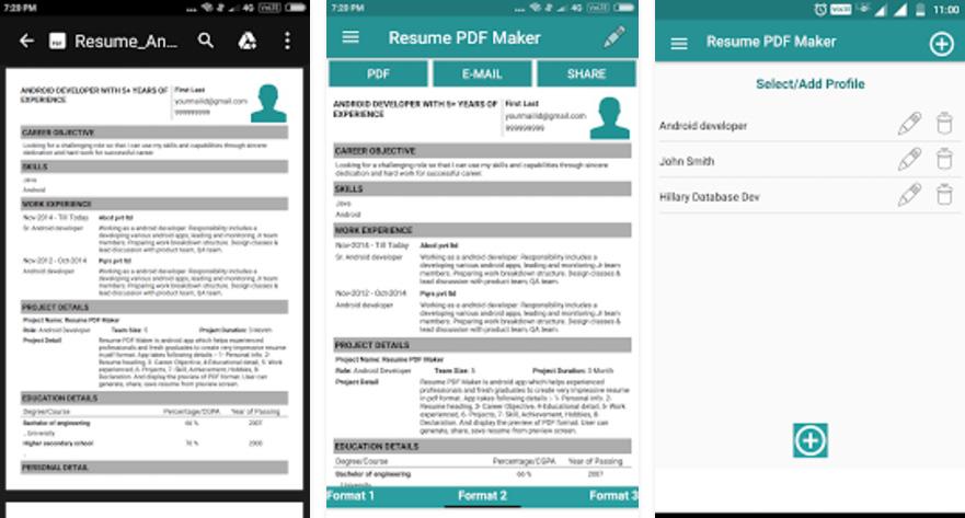 Cómo hacer un currículum vitae en móviles Android y iPhone?