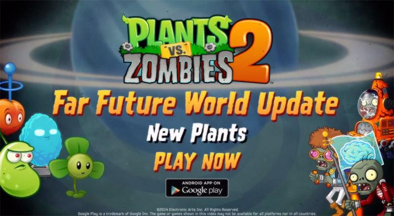 Plants vs. Zombies 2 tiene nuevo mundo futurista, ¿ya lo probaste?
