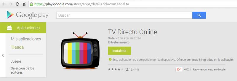 TV Directo Online Google Play