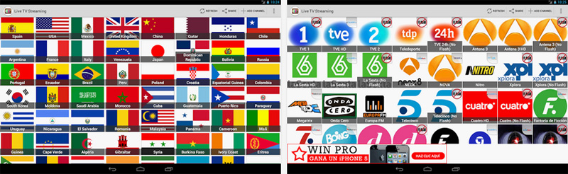 TV Directo Online, canales online desde tu Android