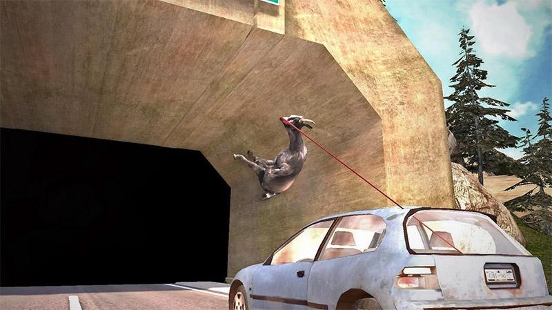 Sé una cabra loca en Goat Simulator para Android