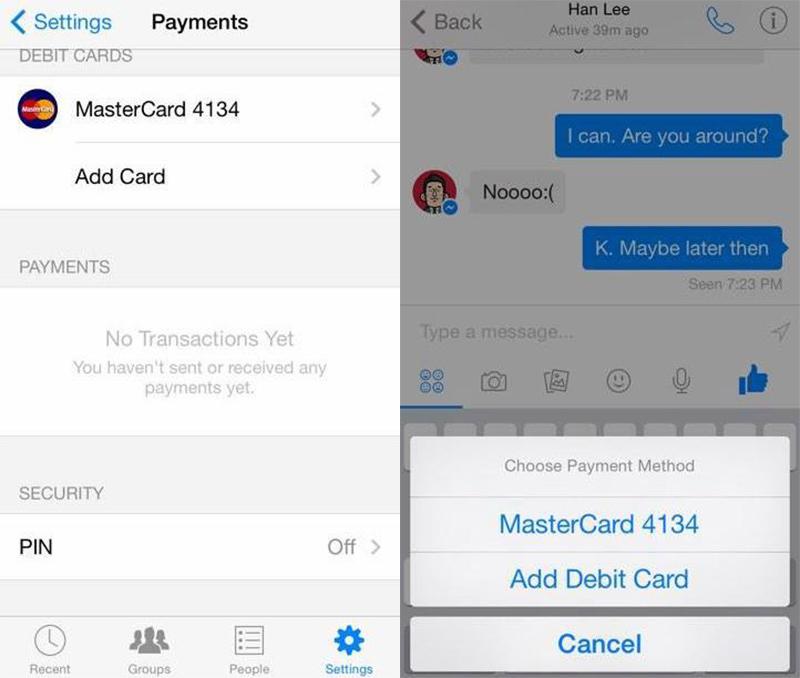 Facebook Messenger habilitaría el envío de dinero entre amigos