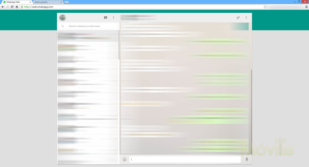WhatsApp web en la computadora