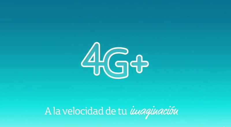 Red LTE 4G+ de Movistar logo