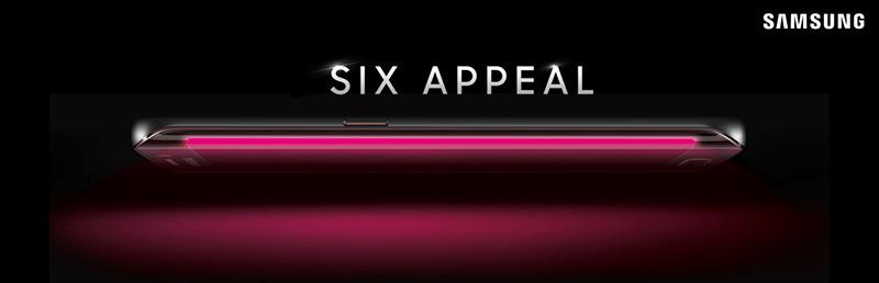 Samsung Galaxy S6 rosado perfil