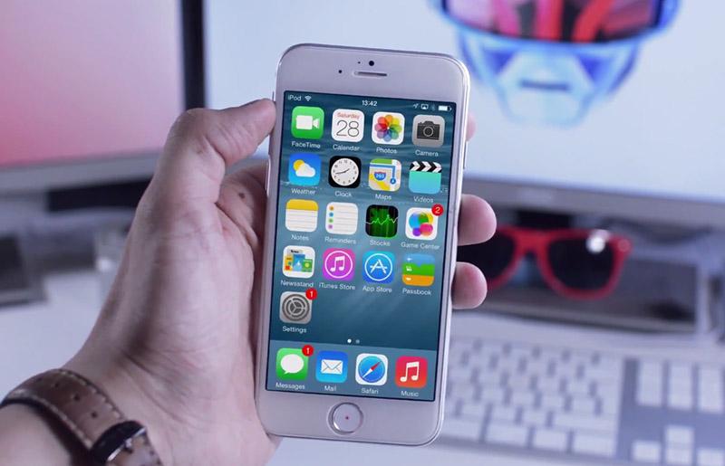 iPhone 6 con iOS 8