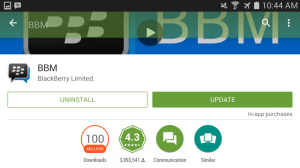BBM android Google Play 100 millones