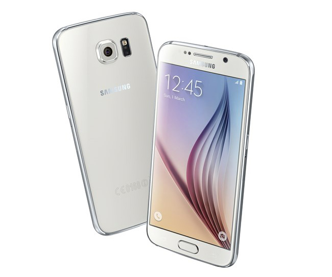 Samsung Galaxy S6 trasera y delantera