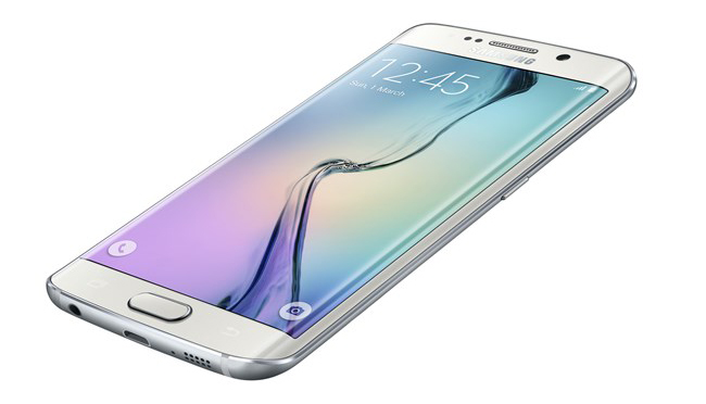 Samsung Galaxy S6 Edge de costado
