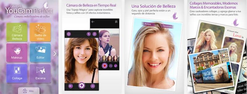 aplicación para selfies YouCam Perfect iphone android