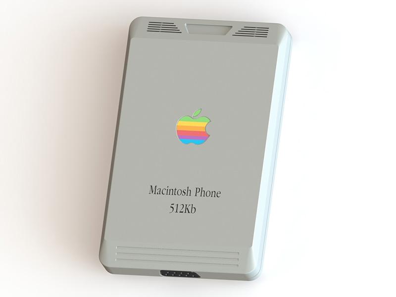 iPhone en 1984 parte trasera puerto nueve pines
