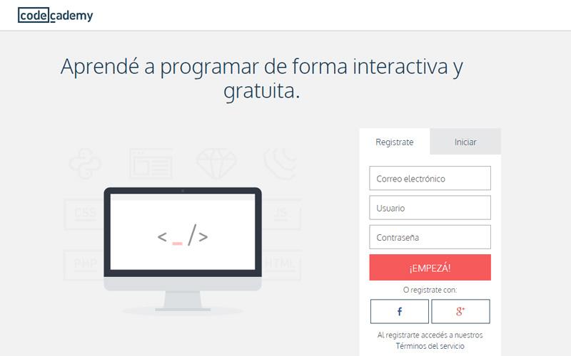 curso de programación gratis Codecademy