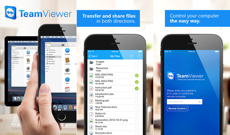 TeamViewer ios android windows mobile blackberry freelance