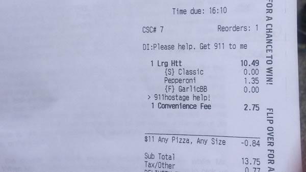 pizza hut factura de rehén