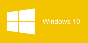 Windows 10 logo fondo amarillo