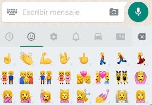 WhatsApp dedo del medio y saludo vulcano