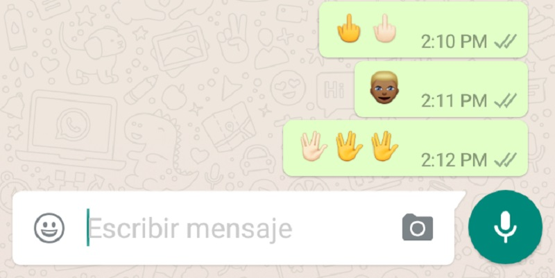 emojis interraciales Whatsapp