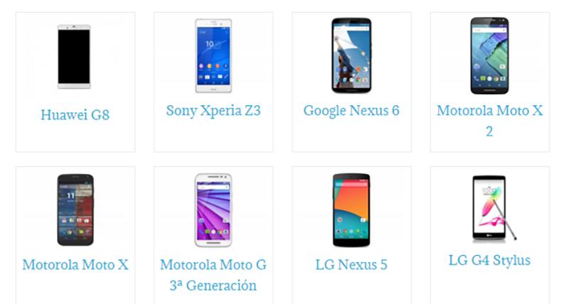 Comparador móviles libres