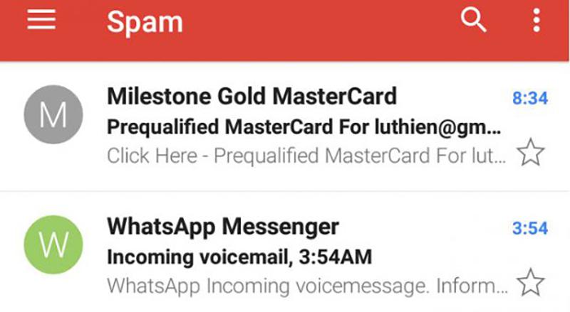 WhatsApp Nivdort Android correo electrónico