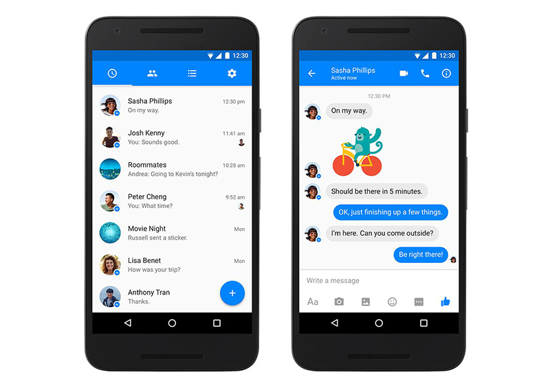 Facebook Messenger Android Material Design
