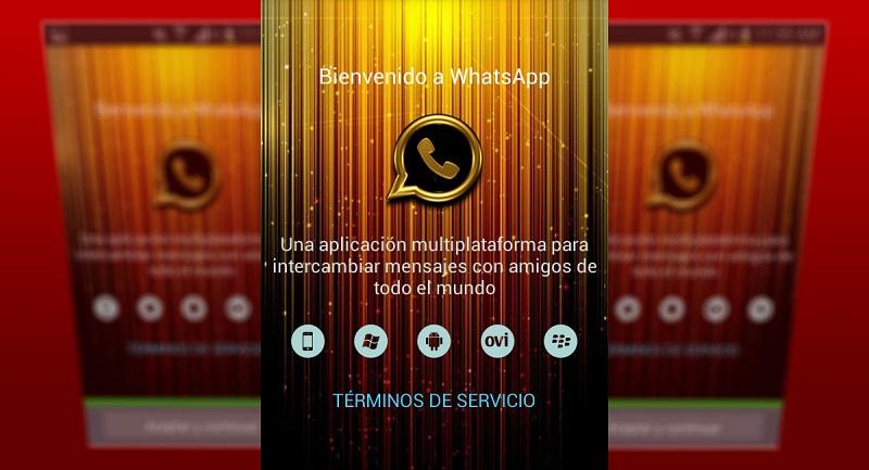 WhatsApp Gold versión falsa de WhatsApp